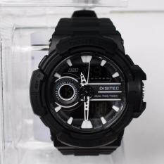 Jam Tangan Pria Digitec Dual Time Wrist Watch Sport DG-3042T Aquaman Original - Black + Box