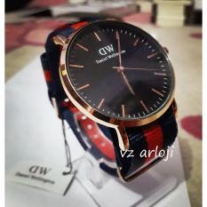 jam tangan pria dw tali kanvas kasual