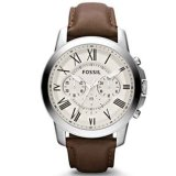 Fossil Jam Tangan Pria Fossil Fs4735 Grant Chronograph Brown Leather Watch Fossil Diskon 50
