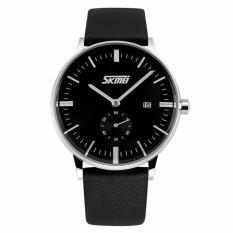 SKMEI Jam Tangan Pria Leather Strap 9083 - Black