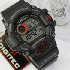 Jam Tangan Pria Level Tinggi Digitec Sport Digital 2064 With Box  - Black Red