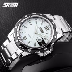 Harga Jam Tangan Pria Original Skmei Water Resistant Jam Tangan Ori 0922 Putih Baru