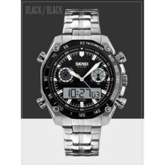 Jam Tangan Pria Rantai Casio Original Skmei Casual Anti Air Import - Ffs0ra