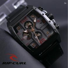Jam Tangan Pria Ripcurl - Chrono Aktif - Black Leather strap