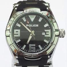 Jam Tangan Pria Sporty Police Strap Rubber Black