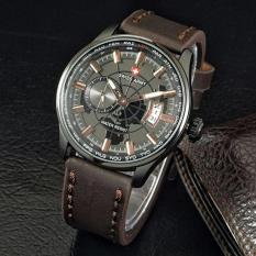 Jual Jam Tangan Pria Swiss Army Sa443W3E Chrono Detik Leather Strap Swiss Army Branded