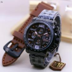 Harga Jam Tangan Pria Tetonis Stainless Original Paket Free Box Leather Strap Chrono On Dual Time Taobao Ori