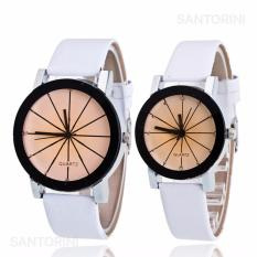 Jam Tangan Quartz 1 Pair Pria dan Wanita Strap Kulit PU Men Women Stainless  Steel Leather 2e967a14ed