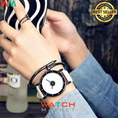 Jam Tangan Quartz Perhiasan Unisex Quartz Watches White