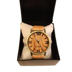 Harga Jam Tangan Quartz Pria Stylish Pu Leather Jam Unisex Fashionable Wooden Watch Gelang Tangan Kayu Lucky Borneo Yang Bagus