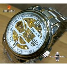 Jam Tangan_Rolex-Automatic [ Tanpa Baterai ] - Jam Tangan Formal Pria - Stainless Steel - Jam Tangan Automatic