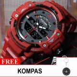 Toko Jam Tangan Sport D Ziner Original Dz 8129 Dualtime Hari Tanggal Full Colour Free 1X Kompas Termurah
