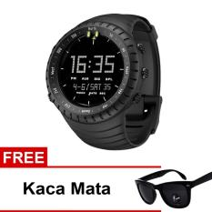 Jam Tangan Sport Digital - Hitam + Free Kacamata