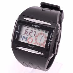 Spesifikasi Jam Tangan Sport Digital Lasika W F 62 Unisex Black Yg Baik