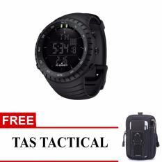 Jam Tangan Sport Digital Outdoor Black Pearl - Free Tas Tactical