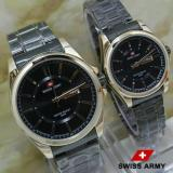Beli Jam Tangan Swiss Army Couple Rantai Black Stainless Sa7779 Ha Online Murah
