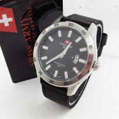 jam tangan swiss army dhc SAM121A strap kanvas-tanggal aktif