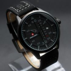 Diskon Jam Tangan Swiss Army Original Sa 6062 Black Grey Black Leather Branded