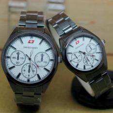 Jam tangan Swiss army pria&wanita Couple Rantai - SA 0163