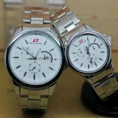 Jam tangan Swiss army pria&wanita Couple Rantai - SA 0166