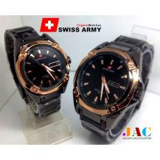 Harga Jam Tangan Swiss Army Romeo And Juliete Satu Pasang Sa3317Jac Tanggal Dan Hari Aktif Jam Tangan Couple Jam Modis Elegan Yg Bagus