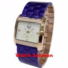 Jam tangan wanita Alexandre Christie original AC Blue Rosegold silikon
