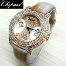 Jam tangan wanita Chopard Diamond Number Leather