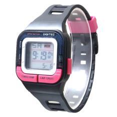 Jam Tangan Wanita Sporty Dg3026 Black Pink Promo Beli 1 Gratis 1
