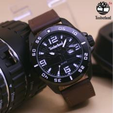 jam TIMBERLAND - Jam tangan casual pria Timberland [tetonis-qq-fossil-hush pupies-alba-swiss army] - Tanggal - Leather strap - stainless steel