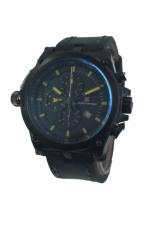 James hayden Crhono Jam tangan pria - Hitam - Strap kulit - JH3218
