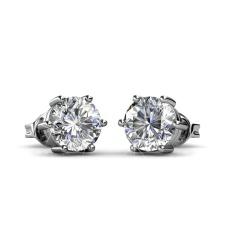 Jane Solitaire Earrings-Kristal dari Swarovski®-Intl