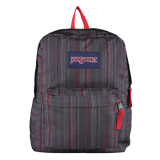 Situs Review Jansport Superbreak Red Tape Grunge Stripes