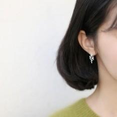 Jepang dan Korea Versi Olive Daun Ranting Berkecambah Departemen Kehutanan Sastra Hadiah S925 Sterling Perak Lucu Telinga kait Anting-Anting Perempuan Model-Internasional