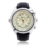 Toko Jaragar Automatic Mechanical Pu Band Big Dial Quartz Wrist Watch Online Tiongkok