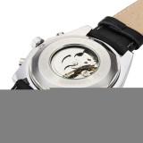 Jual Jaragar Automatic Mechanical Pu Band Big Dial Quartz Wrist Watch Indonesia Murah