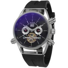 Beli Jargar Men Mechanical Otomatis Dress Watch Dengan Kotak Hadiah Jag448M3S1 Hitam Yang Bagus