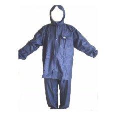 Jas Hujan ASV Karet Rubber PVC (Model Axio) Biru Navy
