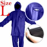 Jas Hujan Asv Versi 1 Kualitas No 1 Karet Pvc Full Rubber Tebal Sistem Press Original Waterproof Raincoat Biru Tua Ukuran L Original