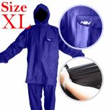 Jual Jas Hujan Asv Versi 1 Kualitas No 1 Karet Pvc Full Rubber Tebal Sistem Press Original Waterproof Raincoat Asv Biru Tua Ukuran Xl Asv Asli