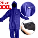 Jual Jas Hujan Asv Versi 1 Kualitas No 1 Karet Pvc Full Rubber Tebal Sistem Press Original Waterproof Raincoat Asv Biru Tua Ukuran Xxl Ori