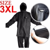 Diskon Jas Hujan Asv Versi 1 Kualitas No 1 Karet Pvc Full Rubber Tebal Sistem Press Original Waterproof Raincoat Asv Hitam Ukuran Xxxl 3Xl Branded