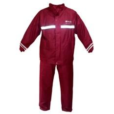 Jas Hujan Axio Europe Original Raincoat - HITAM - BIRU DONGKER, BIRU BCA - MERAH MAROON - Ukuran M , L ,  XL