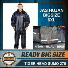 Jas Hujan Big Size, Extra Large Sumo Tiger XXXXXXL, Jas Hujan 6XL ,kualitas OKE
