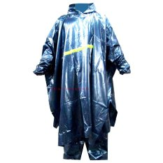Model Jas Hujan Hybird Poncho Celana Biru Terbaru