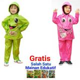 Beli Jas Hujan Jaket Celana Anak Kido Paket Isi 2 Pink Hijau Di Yogyakarta