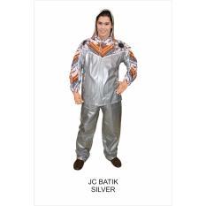 Jual Jas Hujan Jaket Celana Batik Indoplast Silver Original