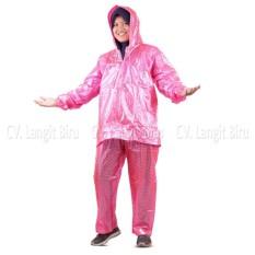 Jual Jas Hujan Jaket Celana Polkadot 810 Plevia Stelan Raincoat Murah Murah Indonesia