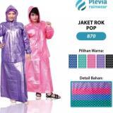 Harga Jas Hujan Jaket Rok Plevia Pop 870 Biru Fullset Murah
