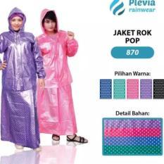 Harga Jas Hujan Jaket Rok Plevia Pop 870 Biru Branded