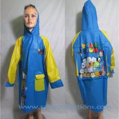 Review Pada Jas Hujan Karakter Anak Terusan Dengan Tempat Tas